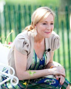 I'm not sure what JK Rowling was saying here, but it probably made the news. (image via Wikimedia)