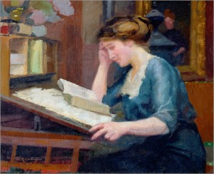 If you read during the holidays, prepare to be interrupted. (image via wikimedia)