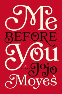 One of the easiest jobs in the publishing industry might be book cover designer for Jojo Moyes.