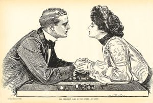You don't have to let her win. You DO, however, have to make sure nothing is stuck in your teeth. (image via wikimedia)